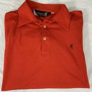 Browning Womens Red Polo Medium